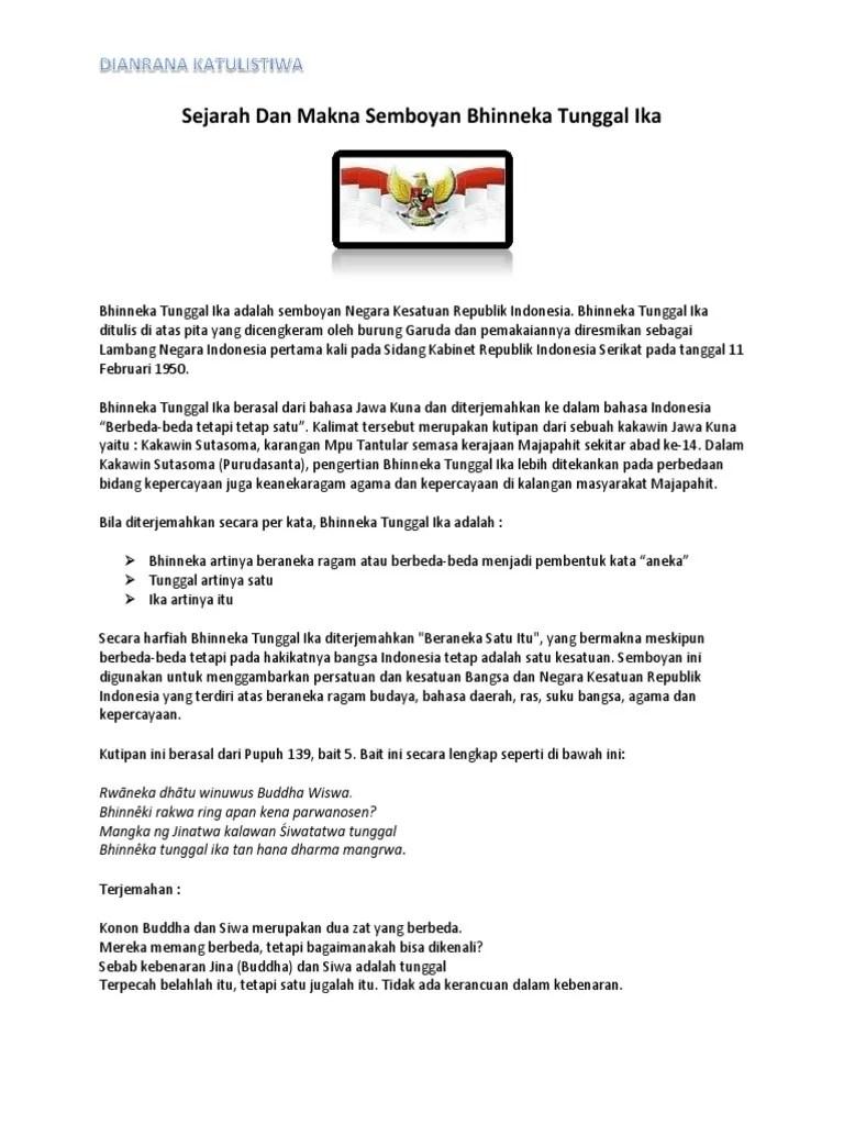 Bhinneka Tunggal Ika | AFILIASI Program