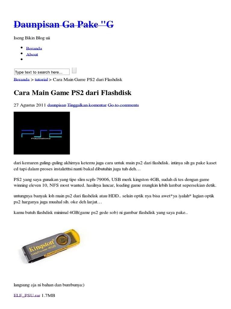 Cara Main Ps2 Matrix Dengan Flashdisk : matrix, dengan, flashdisk
