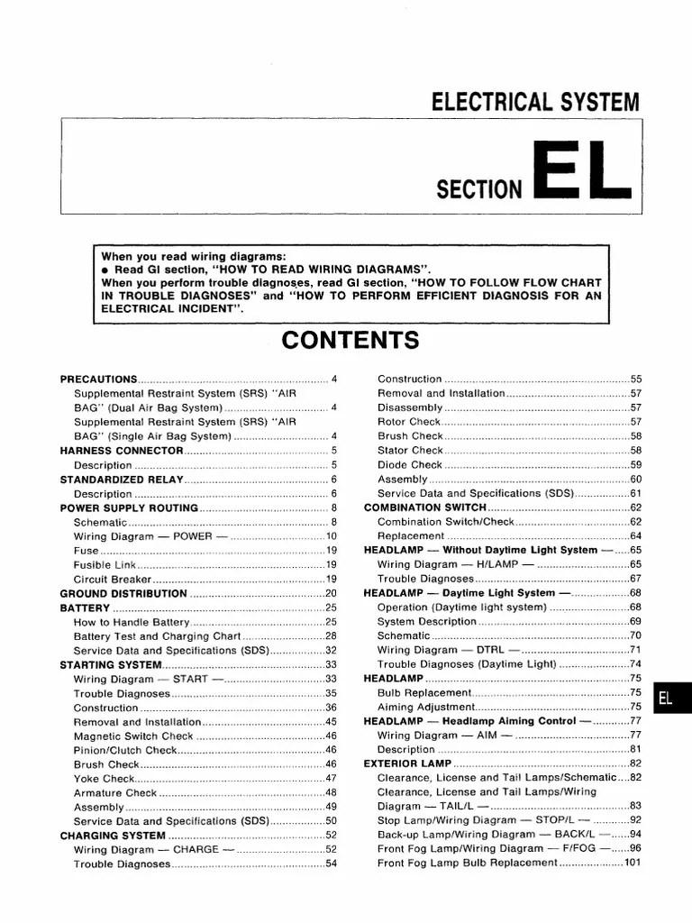 medium resolution of manual de taller nissan almera n15 electrical system pdf airbag 240sx s13 wiring nissan y12 wiring diagram