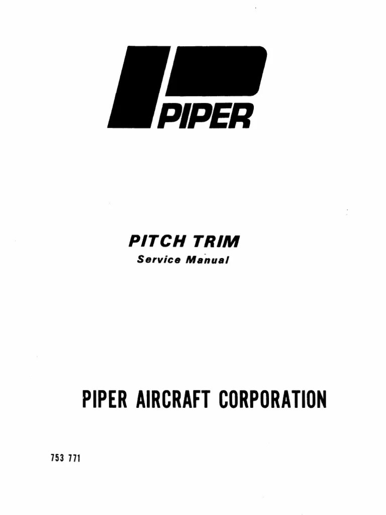 Piper Pitch Trim Service Manual
