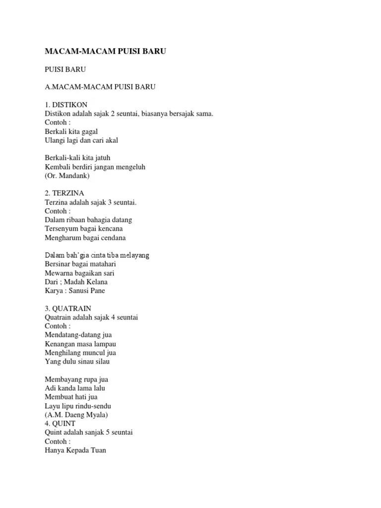 Contoh Puisi Terzina : contoh, puisi, terzina, Jenis, Puisi, Contohnya, Sekali