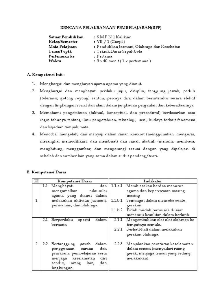 Perangkat Pembelajaran Pjok Smp Kurikulum 2013 Revisi 2017 : perangkat, pembelajaran, kurikulum, revisi, Penjas, Kelas, Kurikulum, IlmuSosial.id