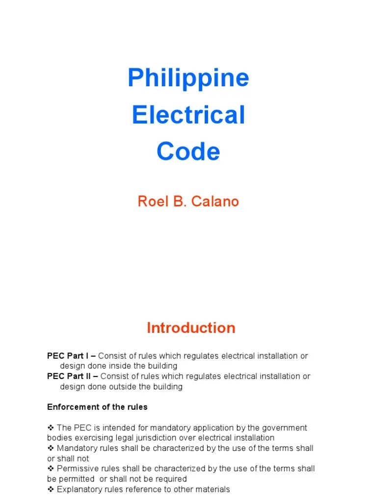 Philippine electrical code for rme hacked wiring electric generator also rh scribd