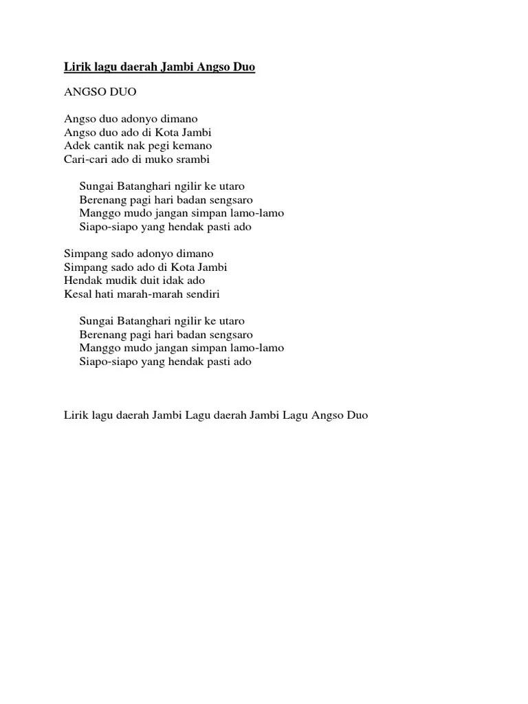Lirik Lagu Simpang Lima : lirik, simpang, Lirik, Daerah