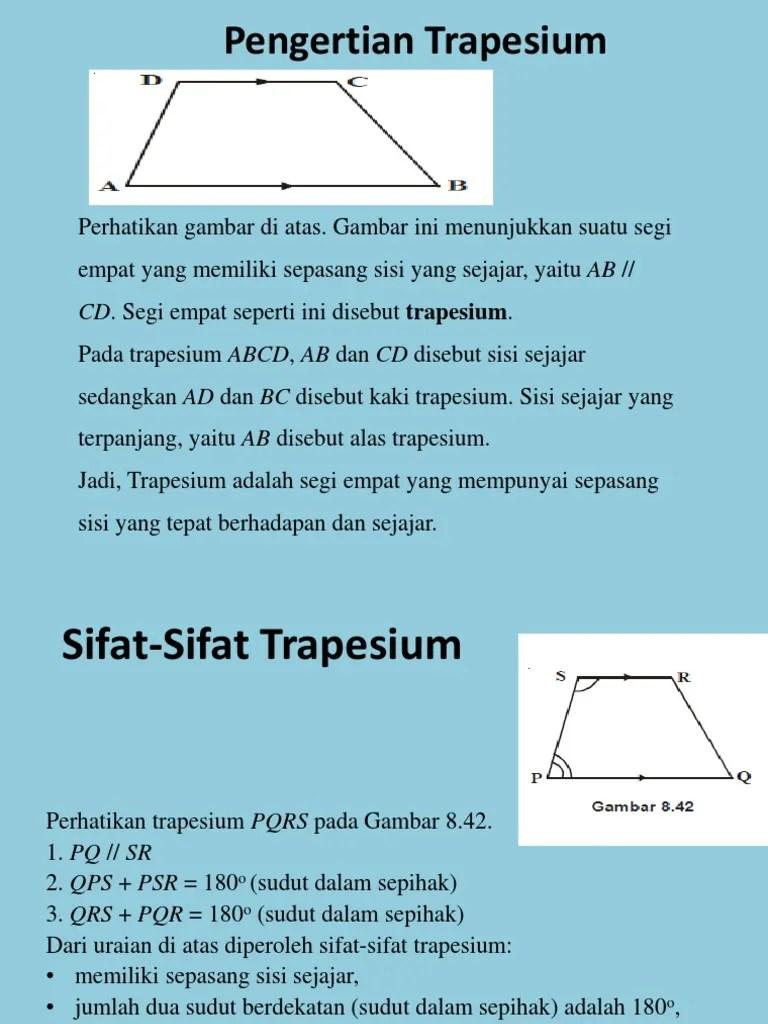 Rumus Trapesium Sama Kaki : rumus, trapesium, Trapesium