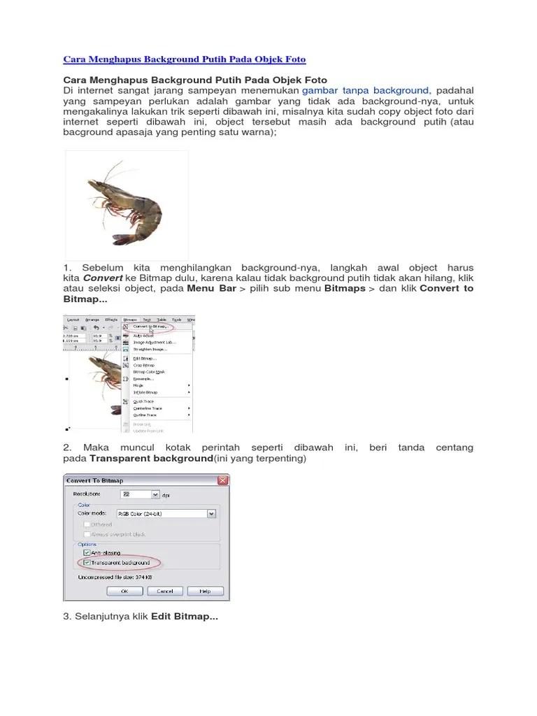 Cara Menghilangkan Background Putih Di Coreldraw : menghilangkan, background, putih, coreldraw, Menghapus, Background, Putih, Objek, Foto.docx