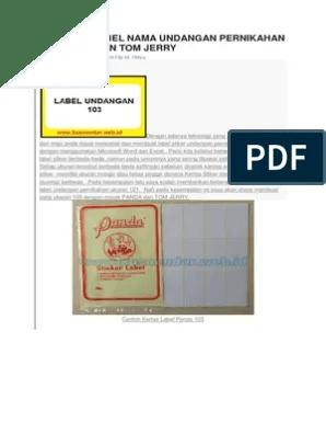 Format Stiker Undangan 103 : format, stiker, undangan, MEMBUAT, LABEL, UNDANGAN, PERNIKAHAN, PANDA, JERRY.pdf