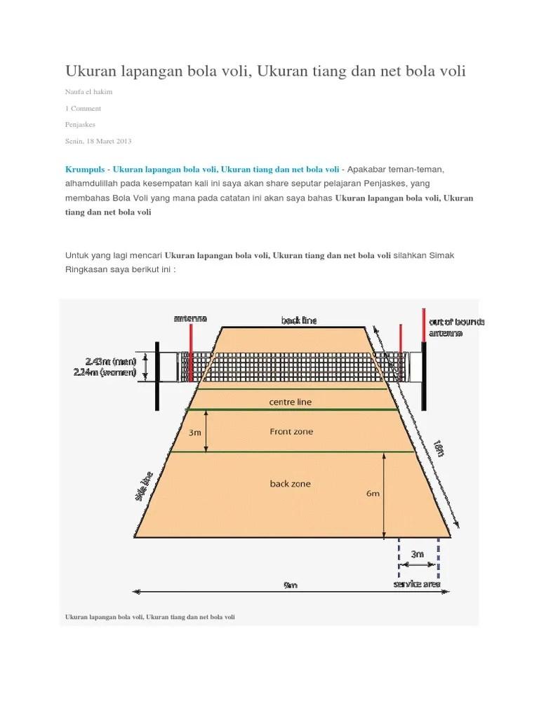 Lapangan Bola Voli Mini Berbentuk : lapangan, berbentuk, Lapangan