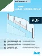 cloison a ossature metallique mur bruit