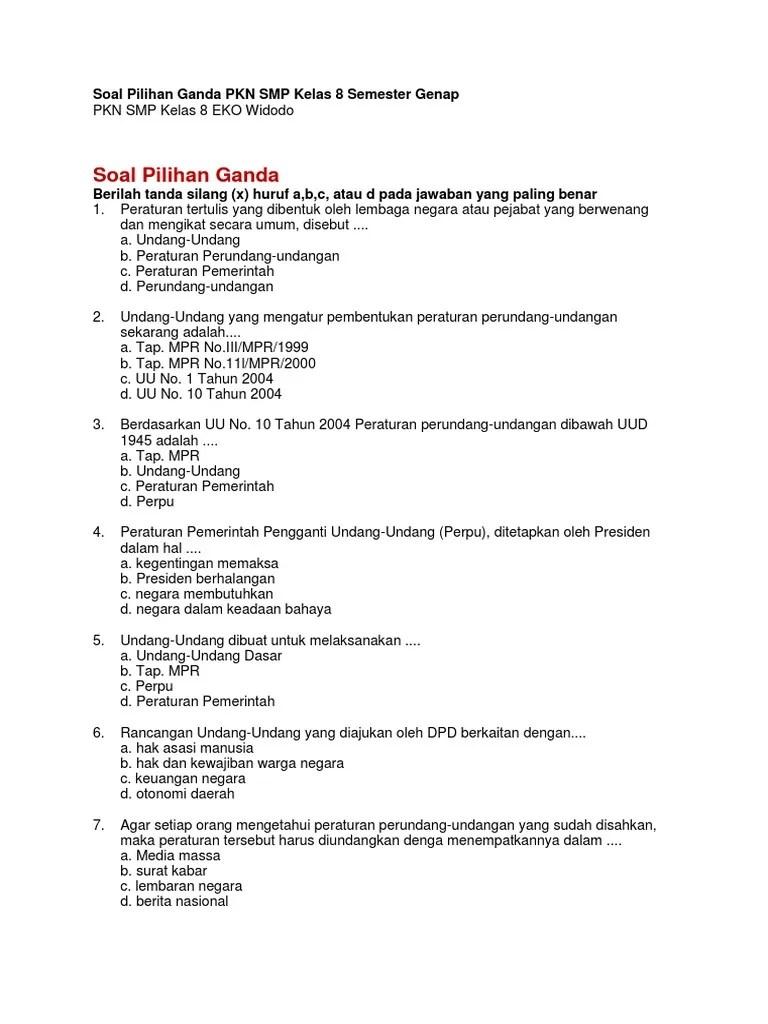 Soal Pkn Kelas X Semester 1 Beserta Kunci Jawaban Guru Galeri