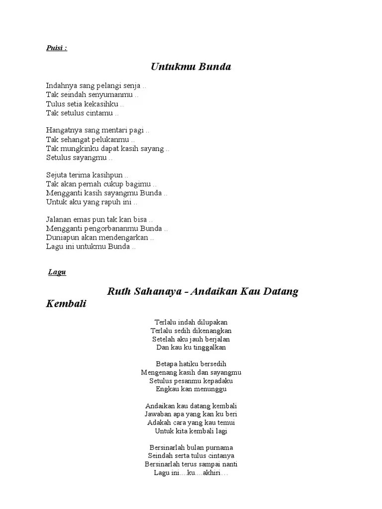 Lagu Indahnya Mentari Pagi : indahnya, mentari, Puisi326999