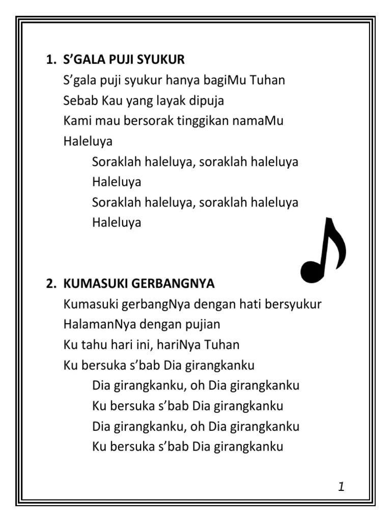Lirik Kumasuki Gerbangnya : lirik, kumasuki, gerbangnya, Kumpulan, Ibadah, Pemuda, Remaja, BESAR