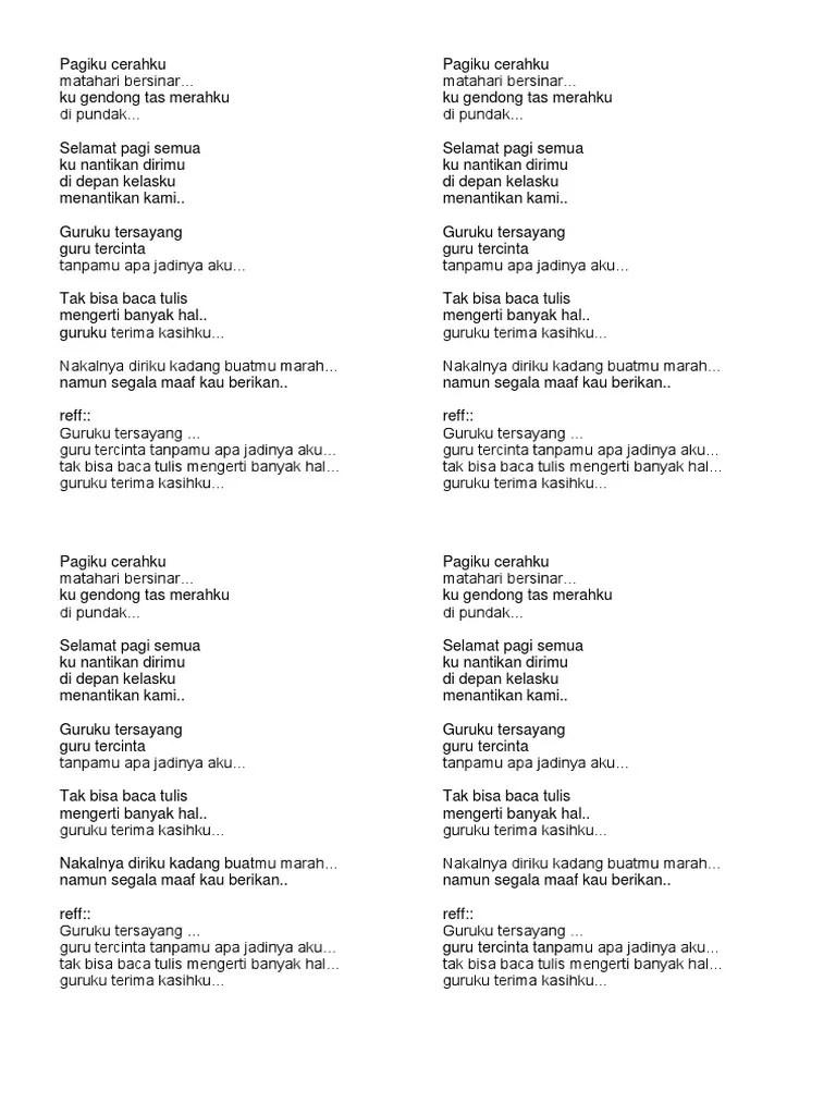 Lagu Pagiku Cerahku Matahari Bersinar : pagiku, cerahku, matahari, bersinar, Merah, Pundak