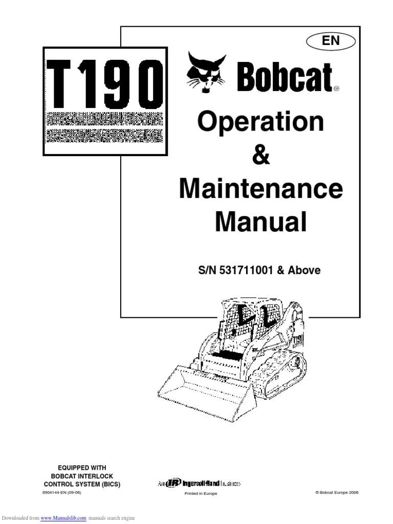 medium resolution of bobcat t190 wiring diagram backup sensor