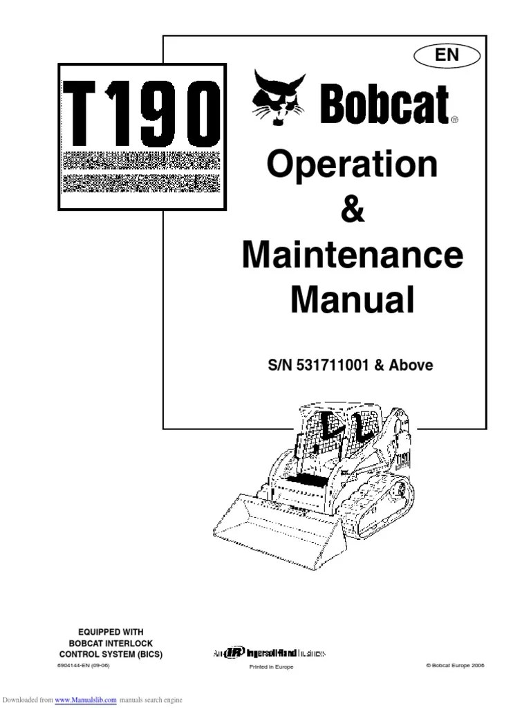 hight resolution of bobcat t190 wiring diagram backup sensor