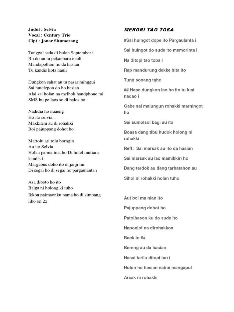 Arti Lagu Mardua Holong : mardua, holong, Lirik, Batak, Cute766