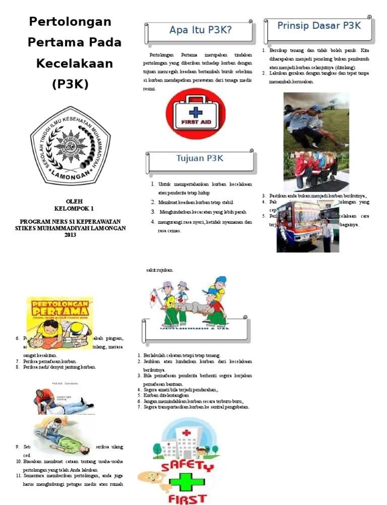 P3k Pingsan : pingsan, Leaflet