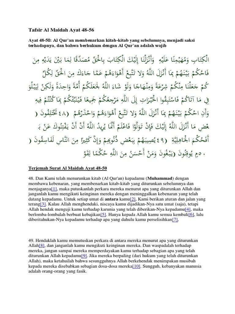 Kandungan Al-Qur'an Surat Al-Maidah Ayat 48 Tentang Kompetisi...
