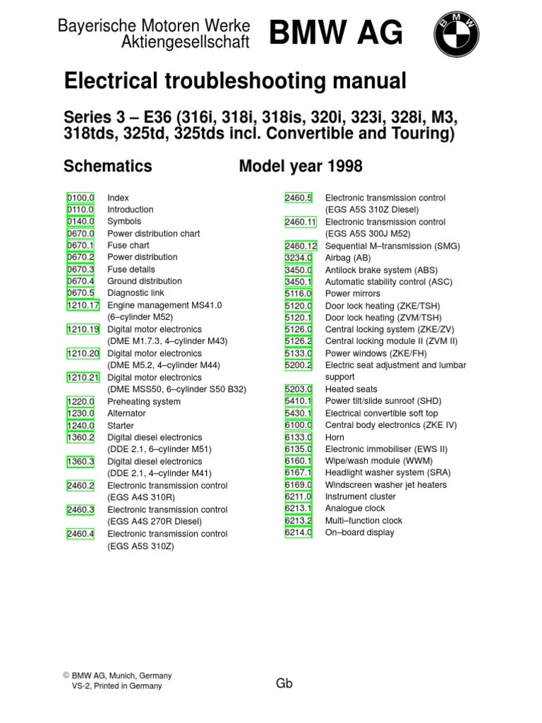 1998 bmw e36 electrical wiring diagram vehicle parts mechanical engineering [ 768 x 1024 Pixel ]