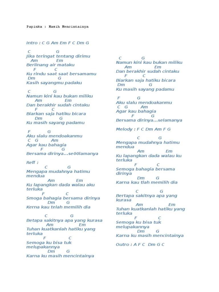 Lirik Lagu Masih Mencintainya Papinka : lirik, masih, mencintainya, papinka, Masih, Mencintainya, (Papinka)