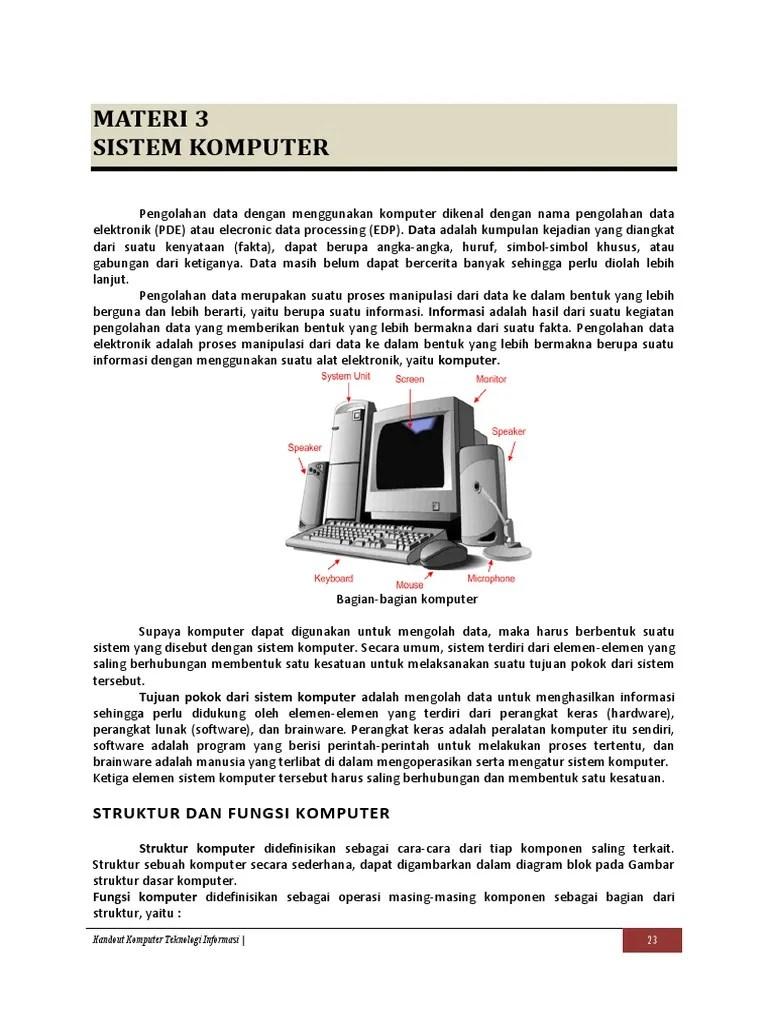 Sebutkan 3 Komponen Komputer : sebutkan, komponen, komputer, Materi3, Sistem, Komputer