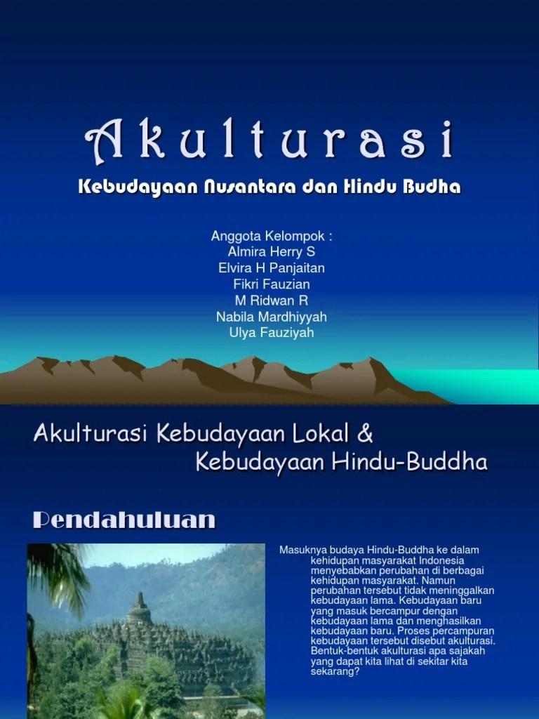 Akulturasi Budaya Di Indonesia : akulturasi, budaya, indonesia, Akulturasi, Budaya, Nusantara, Hindu, Budha