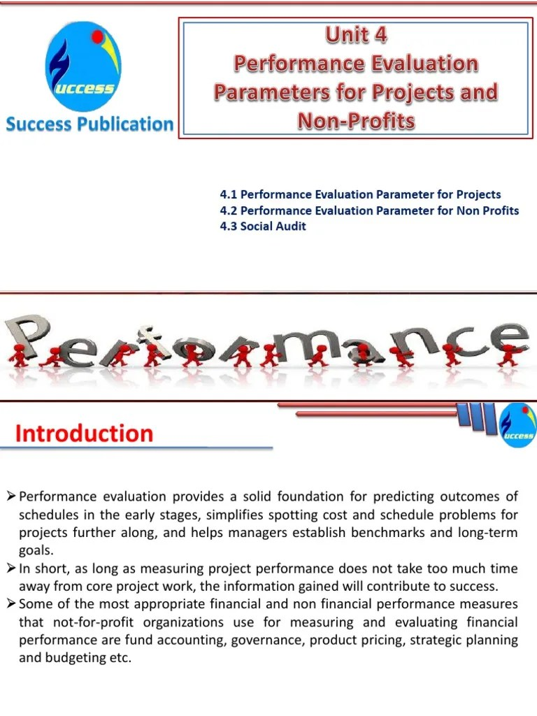 Performance Evaluation Parameters For Projects And Non-Profits   Fund  Accounting   Nonprofit Organization