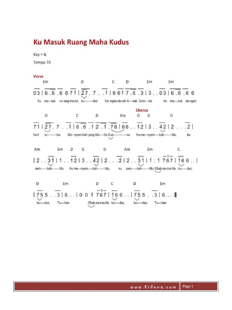 Kumasuk Ruang Maha Kudus Chord : kumasuk, ruang, kudus, chord, Masuk, Ruang, Kudus, Goreng