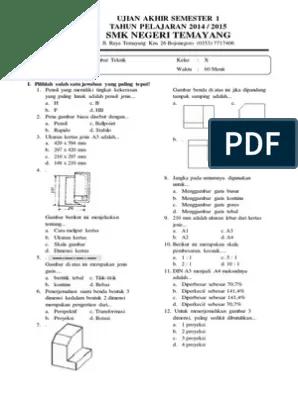 Soal Dan Jawaban Pilihan Ganda Menggambar Teknik Smk : jawaban, pilihan, ganda, menggambar, teknik, Contoh, Pilihan, Ganda, Gambar, Teknik, Jawabannya, Kelas, Teacher