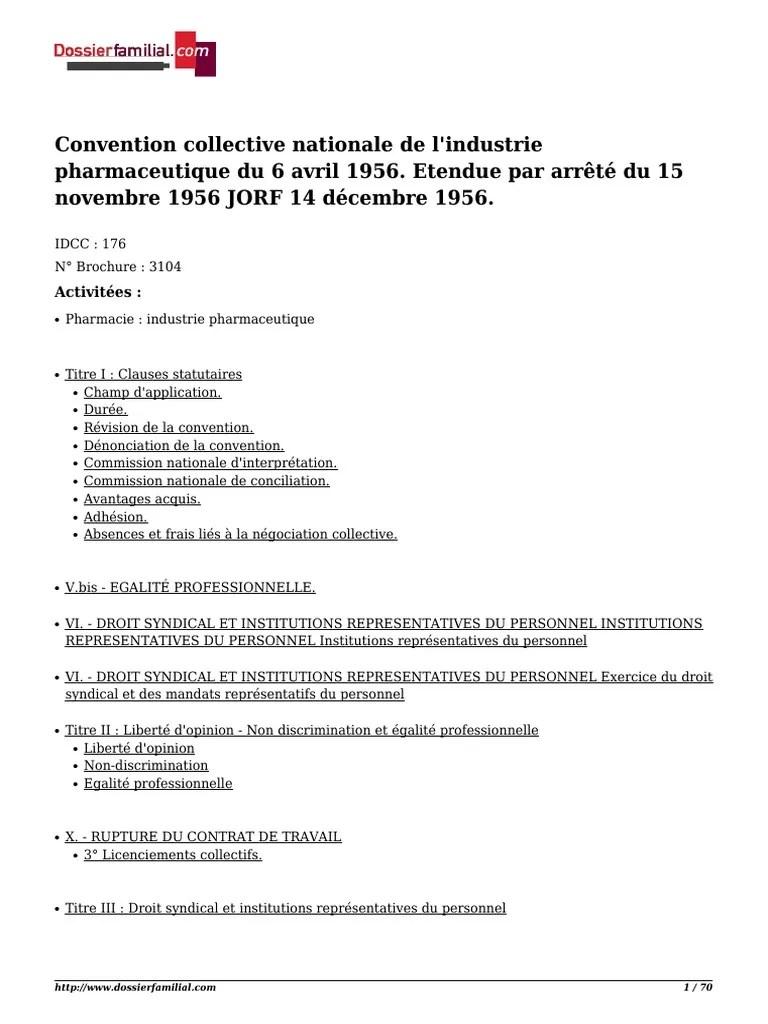 Convention Collective De L Industrie Pharmaceutique : convention, collective, industrie, pharmaceutique, Convention, Collective, Nationale, Industrie, Pharmaceutique, Avril