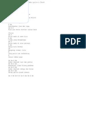 Chord Bulan Madu : chord, bulan, Fantasia, Bulan, Lirik, Chord