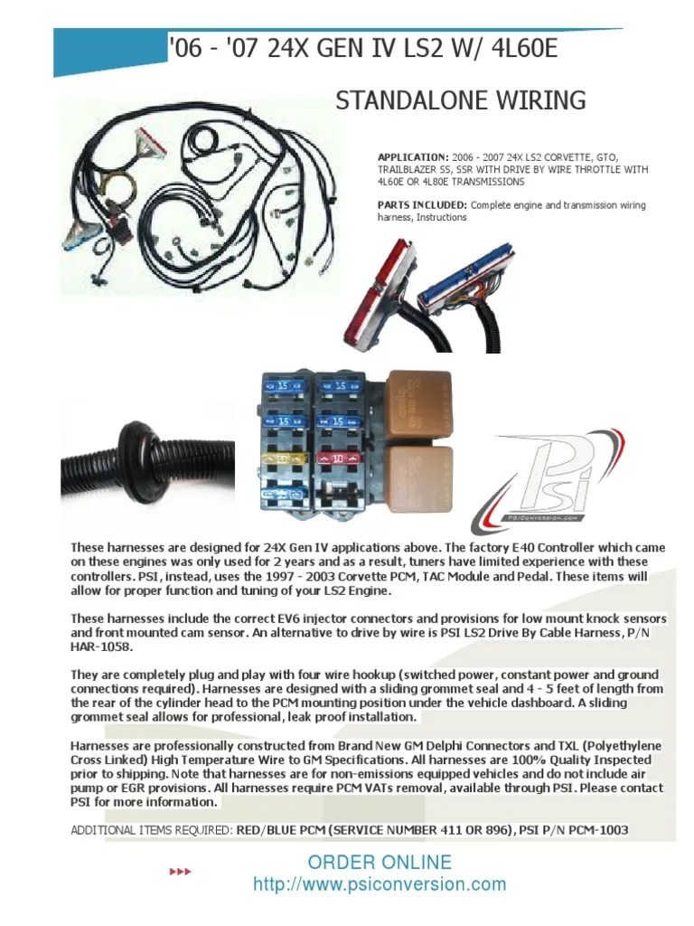 small resolution of ls2 wiring harnes for engine