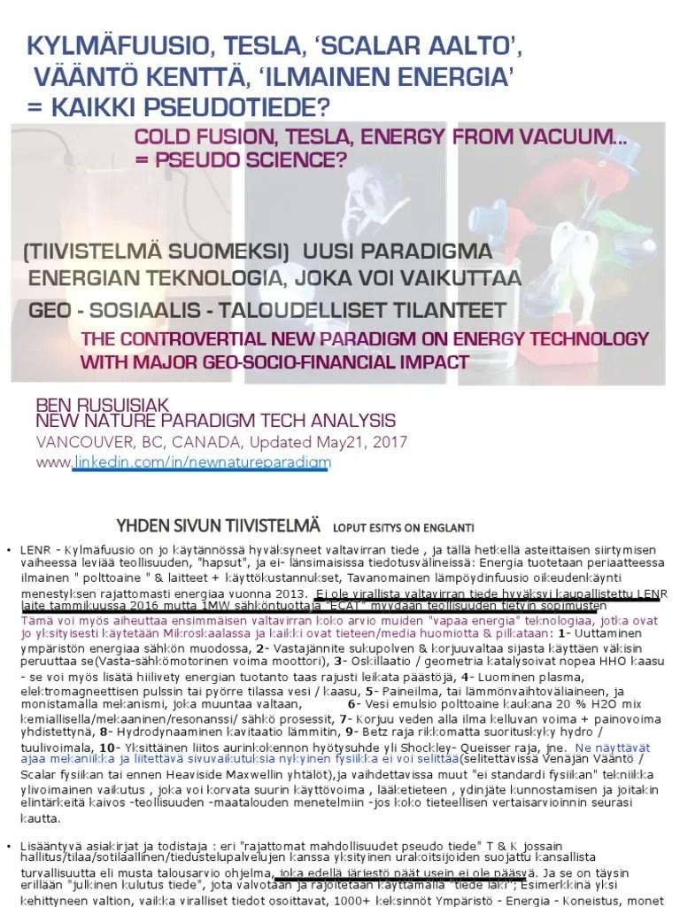 medium resolution of kylm fuusio tesla scalar aalto v nt kentt ilmainen energia kaikki pseudotiede cold fusion tesla free energy pseudo science