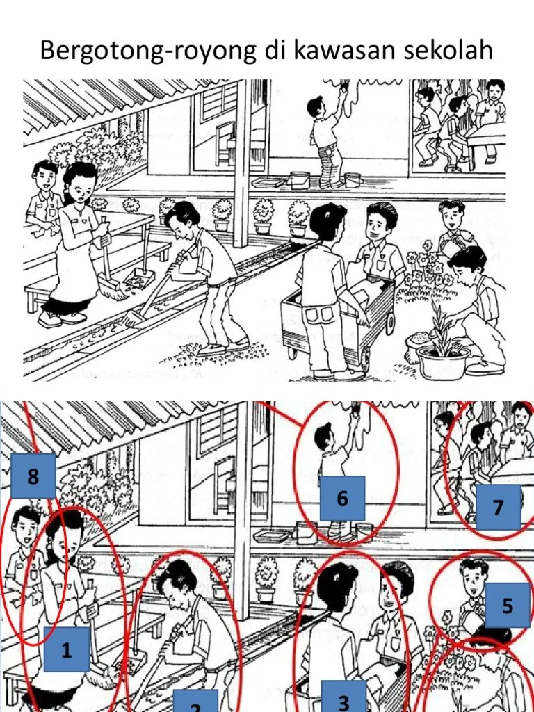 Gambar Kartun Gotong Royong Di Sekolah - Contoh Soal SKB