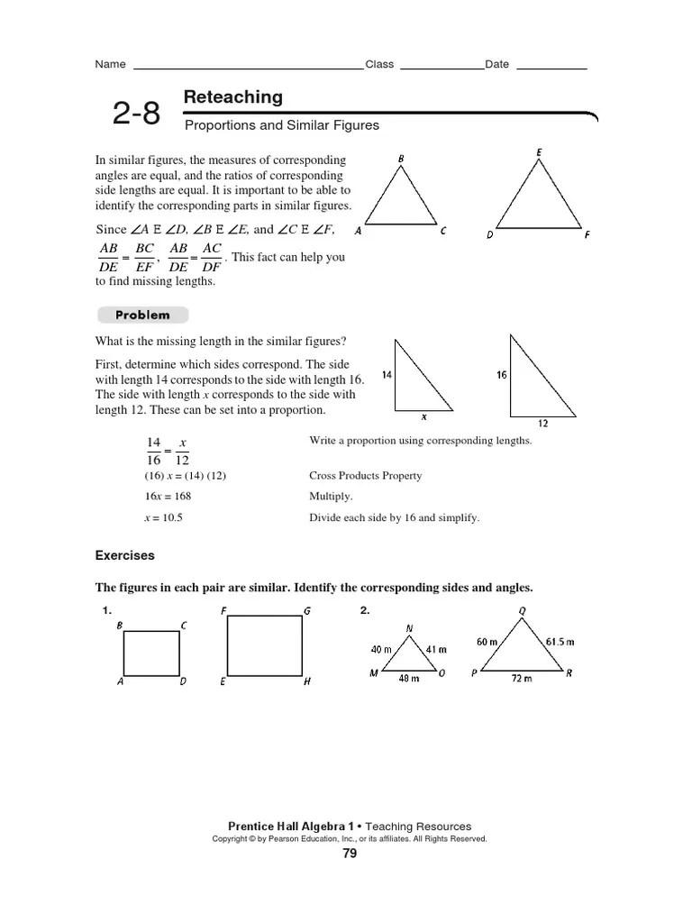 Algebra 2-8 Reteaching [ 1024 x 768 Pixel ]