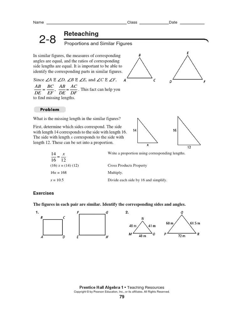 hight resolution of Algebra 2-8 Reteaching