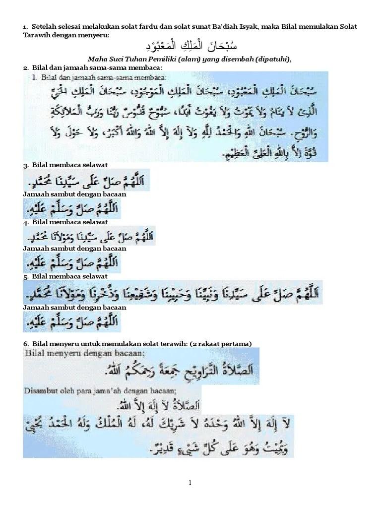 Bilal Tarawih 8 Rakaat : bilal, tarawih, rakaat, Panduan, Bilal, Terawih, Rakaat