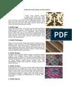 Macam Macam Batik Dan Asalnya : macam, batik, asalnya, Macam, Motif, Batik, Indonesia, Beserta, Daerah, Asalnya