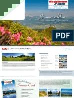 Sommer Erleben Deutsch Englisch Kitzbuheler Alpen St
