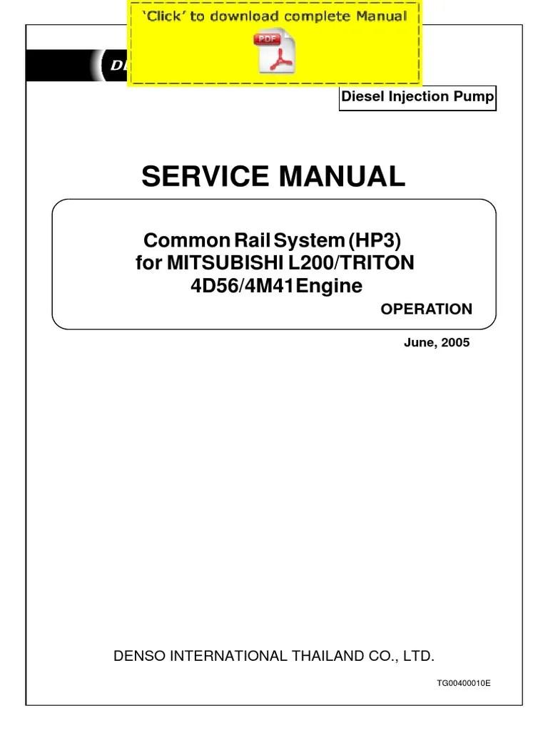 small resolution of denso common rail mitsubishi l200 triton 4d56 4m41 service manual pages throttle fuels