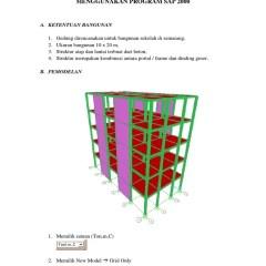 Kuda Baja Ringan Untuk Gudang Struktur Dengan Sap2000