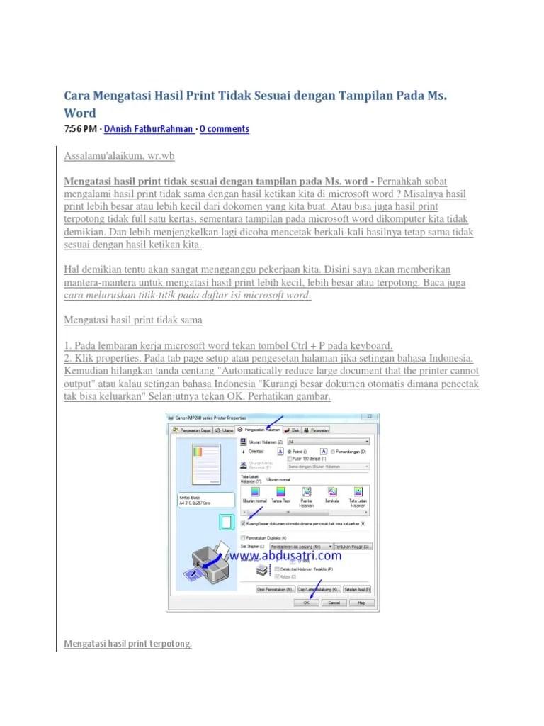 Hasil Print Terpotong : hasil, print, terpotong, Mengatasi, Hasil, Print, Tidak, Sesuai, Dengan, Tampilan, Ms.pdf