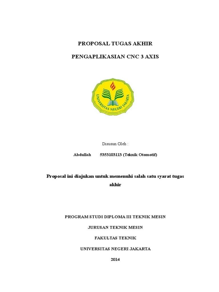 Contoh Proposal Tugas Akhir Teknik Mesin Otomotif Seputar Mesin Cute766