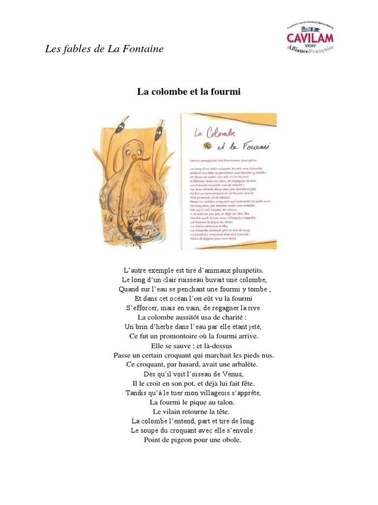La Colombe Et La Fourmi : colombe, fourmi, La_colombe_et_la_fourmi.pdf