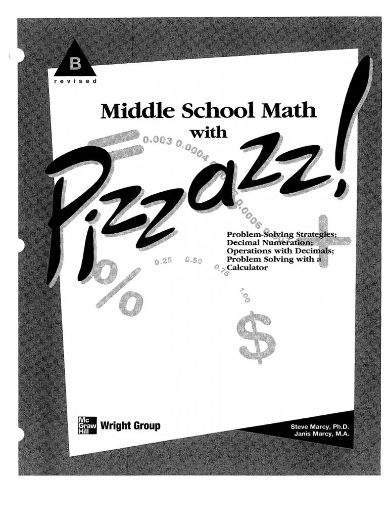 Key E Middle Book Math School Answer Pizzazz