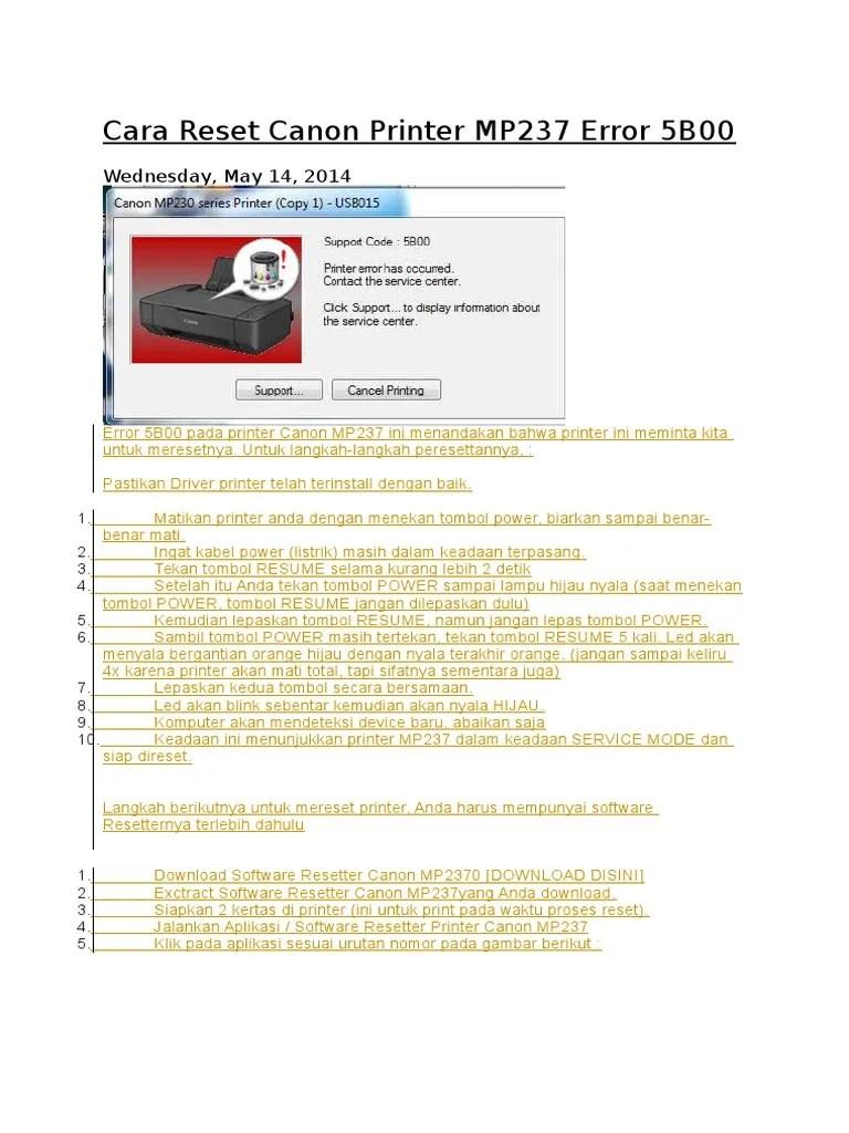 Download Resetter Canon G1000 : download, resetter, canon, g1000, Download, Software, Resetter, Canon, Mp2370, Dalam
