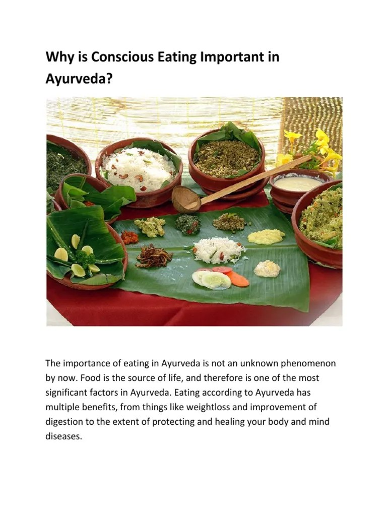 Why is Conscious Eating Important in Ayurveda   Ayurveda ...