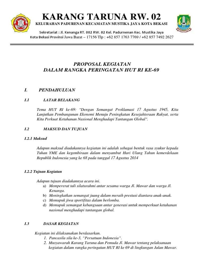 Contoh Proposal 17 Agustus Pdf : contoh, proposal, agustus, Contoh, Proposal, Kegiatan, Lomba, Agustusan, Berbagi