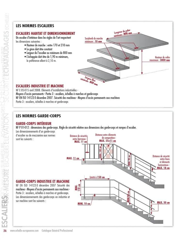 Nf P01 012 Dimensionnement Des Garde Corps : dimensionnement, garde, corps, Normes, Escaliers, Garde, Corps
