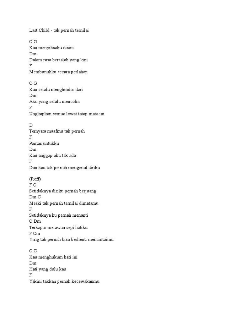 Last Child Tak Pernah Ternilai Chord : child, pernah, ternilai, chord, Chord, Child